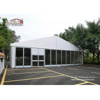 White Banquet Catering Luxury Wedding Tents Big With Glass Walls for sale