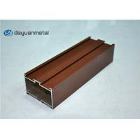Wholesale Red Brown Powder Coating Aluminium Extruded Profile Shapes , ISO9001:2004 from china suppliers