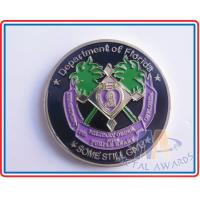 Multi Colored Sports Challenge Coins , Durable Custom Commemorative Coins