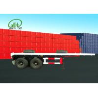 Buy cheap Dual Air Brake System Flat Deck Utility Trailer High Strength Low Alloy Steel from wholesalers