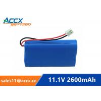Wholesale 18650 11.1V 2600mAh li-ion battery pack with pcm protection from china suppliers