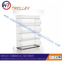 Wholesale Customized Industrial Stackable Storage Wire Mesh Container For Airport 75L from china suppliers