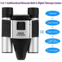 Wholesale DT08 Binocular Built-in Digital Telescope Camera Far Shoot 1.3MP Video Recorder 10x25 101M/1000M outdoor camping hiking from china suppliers