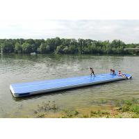 Wholesale Long Blue Smooth Rubber Air Tight Yoga Mat , Floating Inflatable Air Track For Water from china suppliers