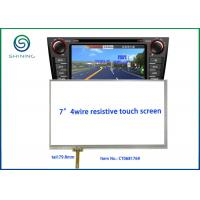 "Wholesale 6.8"" Viewing Area 4 Wire Resistive LCD Touch Panel With ITO Glass To ITO Film Structure from china suppliers"
