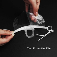 Wholesale Hygiene Double Sided Fogging Prevention Transparent Plastic Face Mask from china suppliers