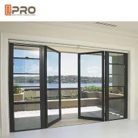 China Sunshine Room Kitchen Sound Insulation Aluminum Alloy Door / Vertical Hinged Door for sale