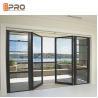 Sunshine Room Kitchen Sound Insulation Aluminum Alloy Door / Vertical Hinged Door for sale