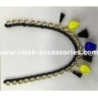 Wholesale Petunia Shape Handmade Beaded Necklaces Blue / Black Chain For Women from china suppliers