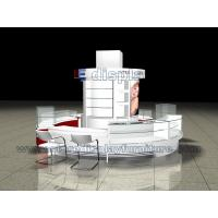 Wholesale Fashion Makeup Beauty Display station in White Curved Counters with Glass case from china suppliers