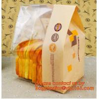 Wholesale Customize Translucent Window Brown Greaseproof Kraft Paper Bag Special Opp Window Shape, window bags, greaseproof paper from china suppliers