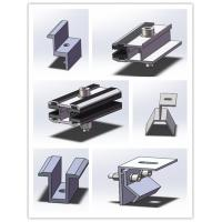 Wholesale Thin Film Frameless Solar Panel Clamps Semi Flexible Mounting Brackets Anodized Surface from china suppliers