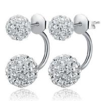Wholesale Women Jewelry Double Ball  Rhinestone Crystal Stud Earrings(EEBALL02) from china suppliers