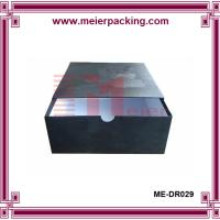 Wholesale Promotional drawer gift box, black sliding apparel paper storage box ME-DR029 from china suppliers