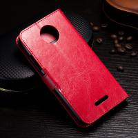 Wholesale Protective Wallet Stand Motorola Leather Case For Motorola C Plus Side - Open from china suppliers