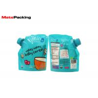 China 100% Security Food Grade Spout Pouch Custom Logo Printing Organic Baby Food Pouches on sale