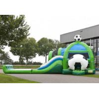 Wholesale Amazing Soccer Inflatable Jumping Castle Combo With Water Slide from china suppliers