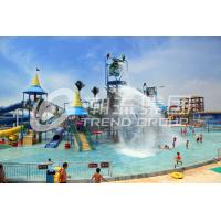 China Interactive Aqua Playground Water Slide Equipment Fun Theme Park on sale
