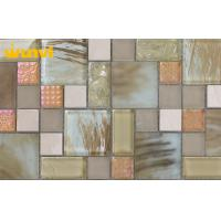 Wholesale Electroplating Washable Glass And Stone Mosaic Tiles For Bathroom , Living Room from china suppliers
