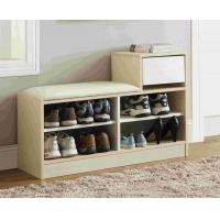 Wholesale White Modern Narrow Home Shoe Cabinet Cushion Bench With PB Board Frame from china suppliers