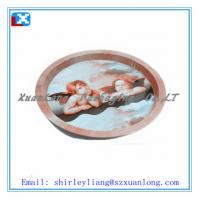 Quality Tin round serving tray/200X15MM for sale