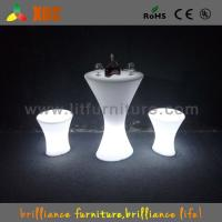 Wholesale Outdoor / Indoor  LED Bar Tables with glass top / lithium battery from china suppliers