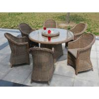 Wholesale 7pcs sofa dining sets round rattan wicker outdoor dining set. from china suppliers