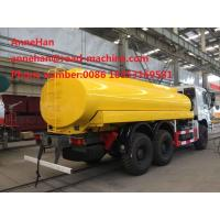 Wholesale Howo Water Tank Truck 6x4 16000l Sinotruk 371hp 12.00R20 Radial Tire Can Option Q235Material from china suppliers