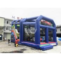 Wholesale Outdoor Cartoon Inflatable Bouncy Slide For Kids / Toddler With Shelter Cover from china suppliers