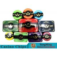 Wholesale New Design Bronzing Engraved Poker Set With Special Acrylic Materials from china suppliers