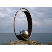 Wholesale Modern Geometric Stainless Steel Outdoor Metal Sculpture For Large Garden Decoration from china suppliers