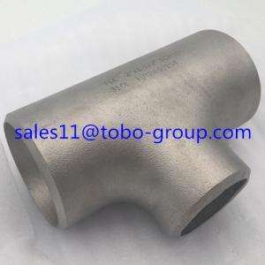 Wholesale TOBO  butt welding pipe fitting butt-welding Equal Tee super duplex uns s32750 6