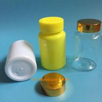 Quality Health Care Food Different Size Screw Cap PET Clear Plastic Pill Bottles for sale