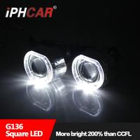 Quality IPHCAR BMW  Ring Angel Eye Projector Lens 2.5'' Square Projector lens BMW projector lens Car light for sale
