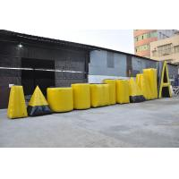 Wholesale Yellow Inflatable Sports Games Paintball Bunker , PVC Tarpaulin Inflatable Airsoft Bunker from china suppliers