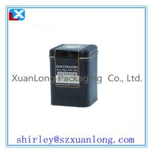 Wholesale Custom Black Square Shape Tin Tea Box from china suppliers