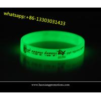 high quality customized silicone wristbands for events glow in dark for sale
