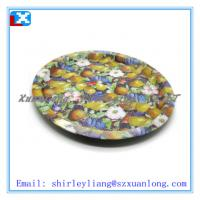 Quality high quality big round tin tray for sale