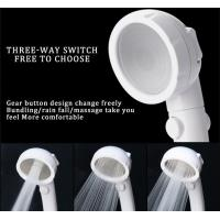 Wholesale JK-2801 white color massage handheld showerheads high water pressure saving water three settings shower from china suppliers