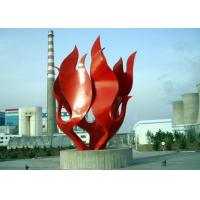 Wholesale Modern Red Painted Stainless Steel Outdoor Sculpture OEM / ODM Available from china suppliers