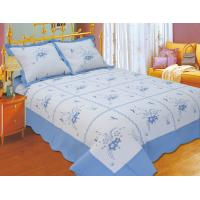 Wholesale Durable Embroidery Cotton Quilt Sets , Designer Quilt Covers With ISO9001 Certification from china suppliers