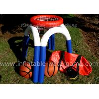 China Portable Outdoor Inflatable Basketball Hoop For Kids , Inflatable Water Games Airtight 3M Height on sale