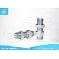 Wholesale Bite Type Hydraulic Bulkhead Fittings Adapter 6D Metric Thread 24 Degree H.T. from china suppliers