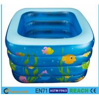 China Square Inflatable Swimming Pool Sea Animal Printing Easy Setting Up For Kids Toy on sale