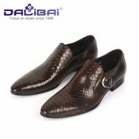 Wholesale Genuine Leather Dress Shoes Mens Dress Shoes Buckle Strap Walking Dress Shoes from china suppliers
