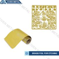 Wholesale Soft Annealed C26000 C27000 Rolled Brass Foil Roll For Heating Foils / Lamination from china suppliers