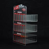 Wholesale Custom Plastic E - Cigarette Display Stand Transparent  More Rows More Tiers from china suppliers