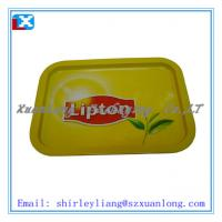 Wholesale rectangle metal tray tin serving tray from china suppliers