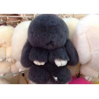Wholesale Luxury Colorful Fluffy Rabbit Keyring Portable For Handbag Charm Pendant from china suppliers