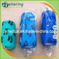 Wholesale Paw printing animal cohesive bandage pet bandage veterinary self adhesive bandage from china suppliers